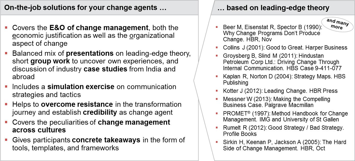 Change Management Training for Change Agents